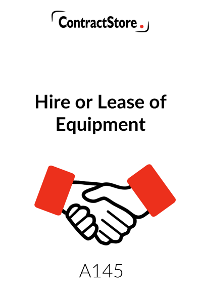 Equipment Hire Agreement UK