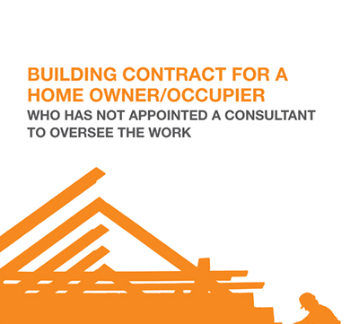 JCT Building contract for a home owner/occupier with no consultant