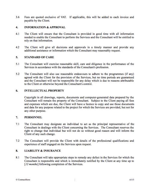 Consultancy Agreement Template Uk Contractstore
