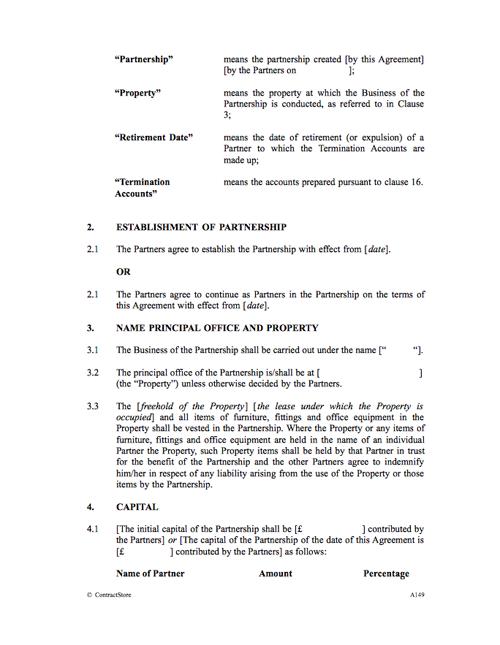 Partnership Agreement Template (3 Partners) | ContractStore