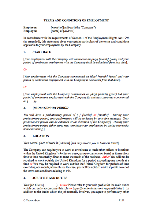 Employment Contract Template (Permanent) | ContractStore