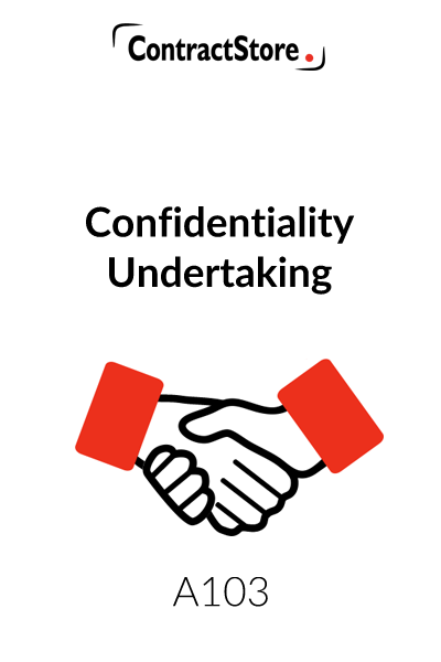 Confidentiality Undertaking (Confidentiality Agreement Template)