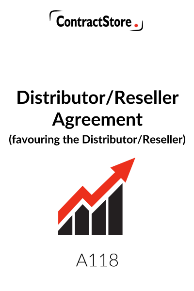 Distributor or Reseller Agreement (favouring the Distributor/Reseller)