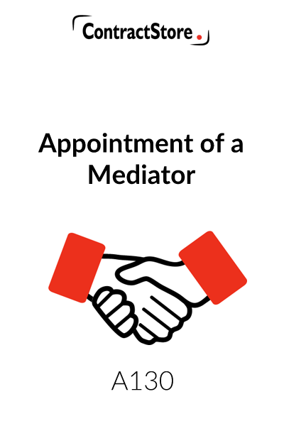 Appointment of a Mediator