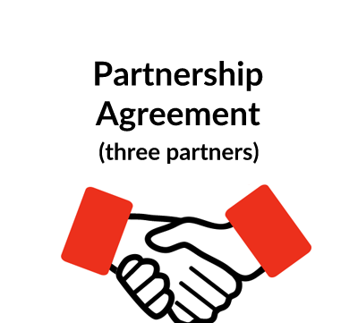 Partnership Agreement 3 Partners – 3 Way Template
