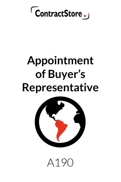 Appointment of Buyer's Representative