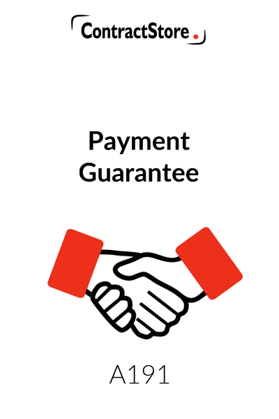 Payment Guarantee Letter Template