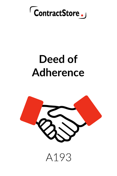 Deed of Adherence