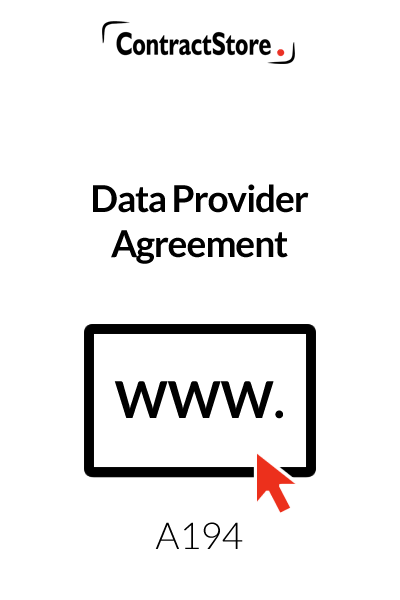 Data Provider Agreement