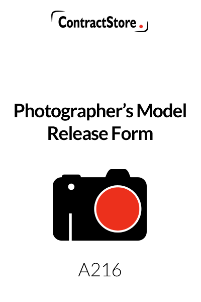 Photographer's Model Release Form