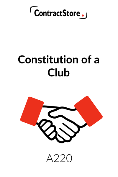 Constitution Template for Club (Club Constitution)
