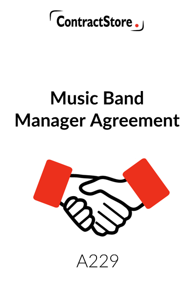 Music Band Manager Agreement