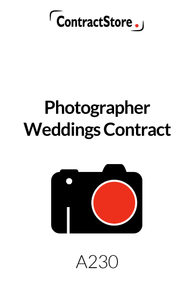 Photographer Weddings Contract
