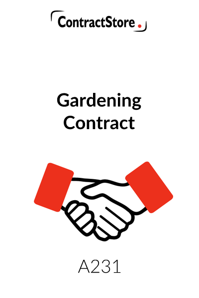 Gardening Contract Template