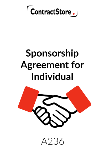 Sponsorship Agreement for Individual