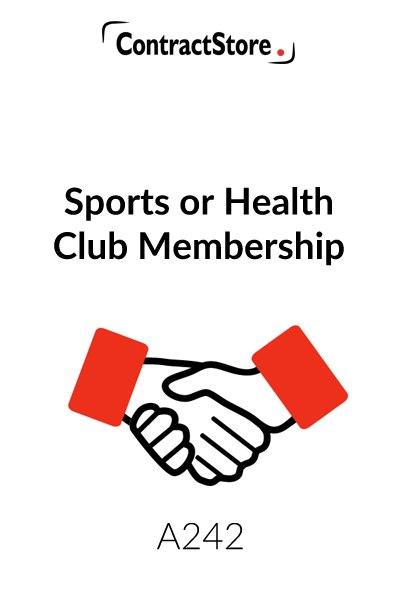 Health Club & Gym Membership Agreement Template