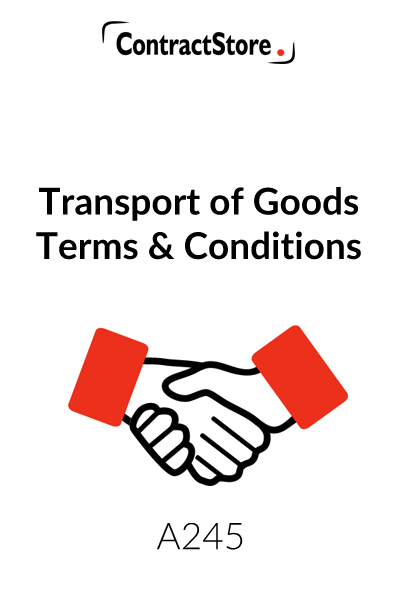 Transport of Goods – Terms & Conditions