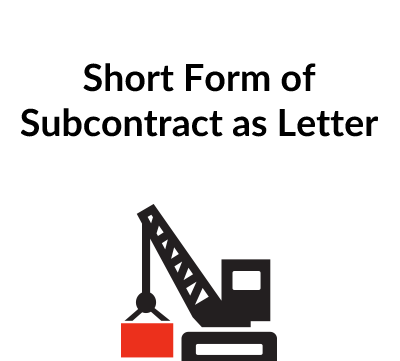 Short Form of Subcontract in Letter Format