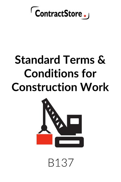 Standard Terms & Conditions for Construction Work / Builders