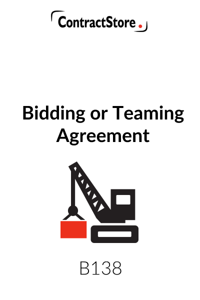 Bidding Agreement Teaming Agreement