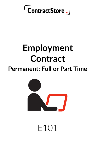 Employment Contract Template Permanent Contractstore