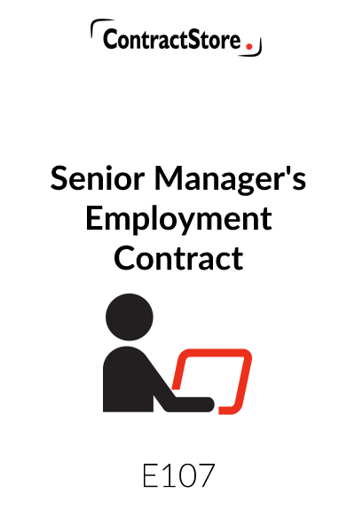 Senior Manager's Employment Contract
