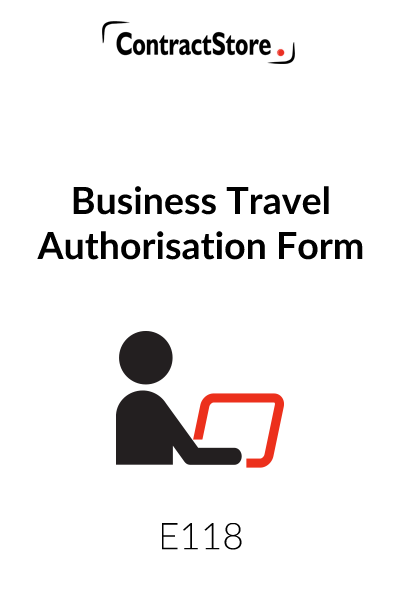 Business Travel Authorisation Form