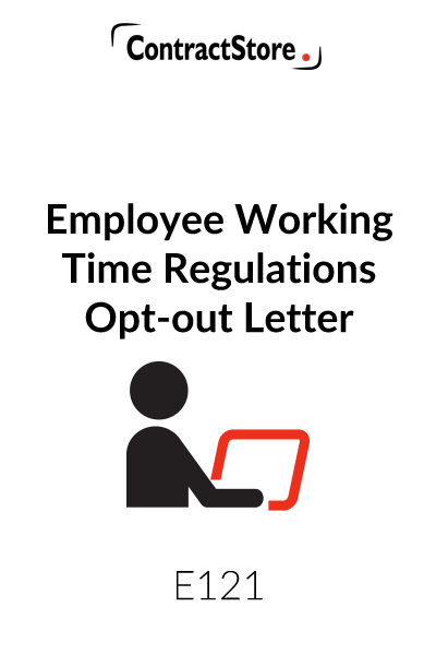 Employee Working Time Regulations Opt-out Letter