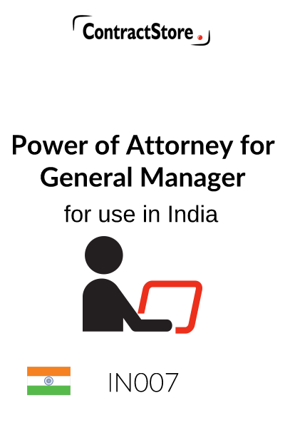 Power of Attorney for General Manager (India)