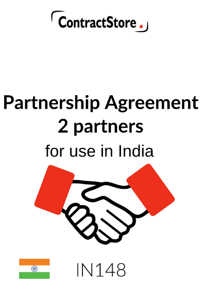 Partnership Agreement – 2 Partners (India)