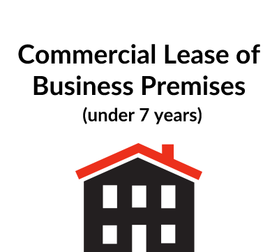 Commercial Lease of Business Premises (Under 7 years)