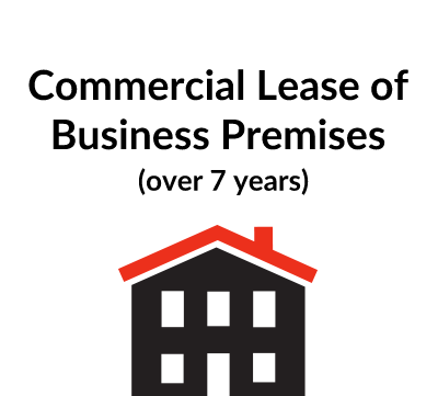 Commercial Lease of Business Premises (over 7 years)