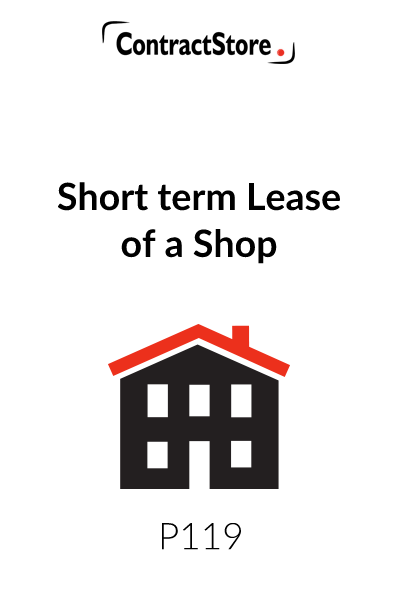 Short Term Shop Lease Agreement