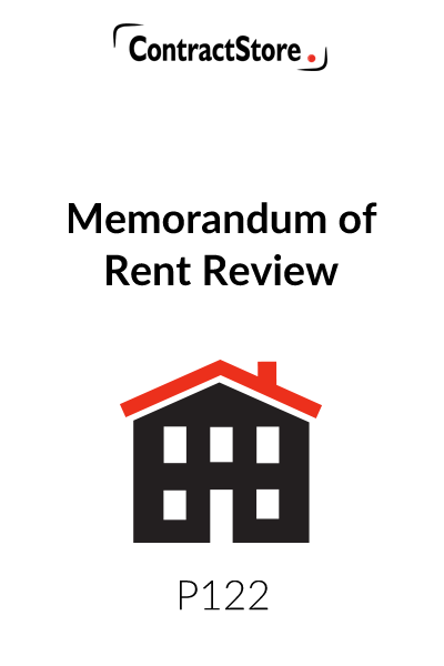 Memorandum of Rent Review