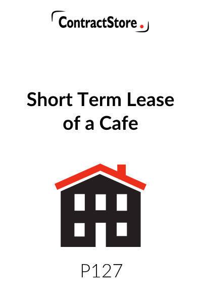 Short Term Lease of a Cafe