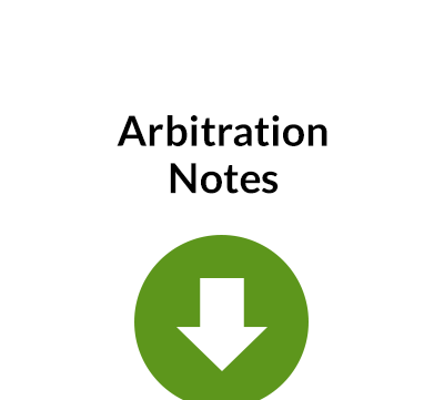Arbitration Notes – Free Document