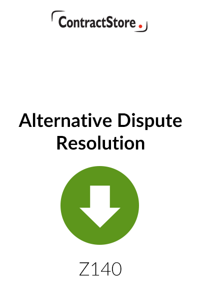 Alternative Dispute Resolution – Free Document