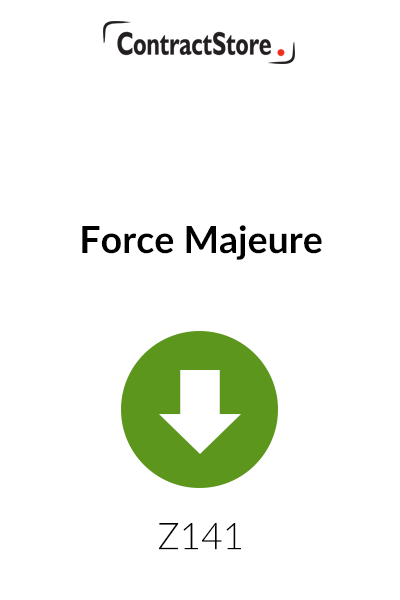 Force Majeure – Free Document