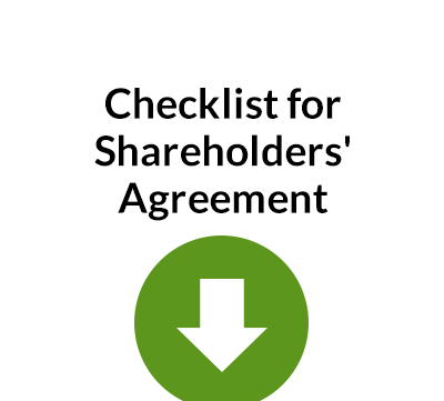 Checklist for Preparing Shareholder Agreement