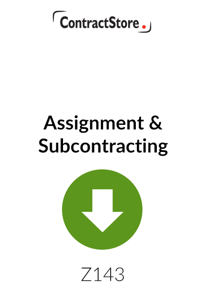 Assignment & Subcontracting – Free Document