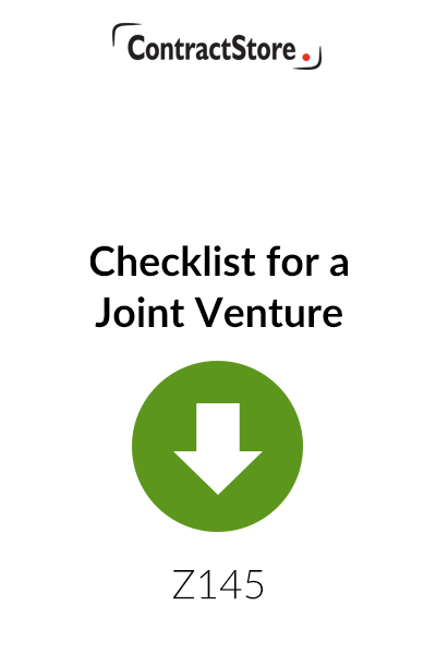 Checklist for a Joint Venture – Free Document