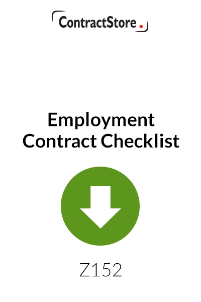 Employee's Contract Checklist