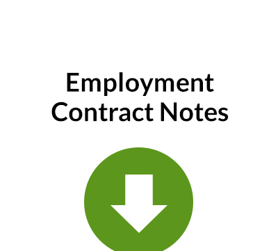 Employment Contract Notes