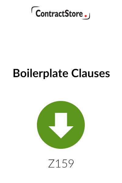 Boilerplate Clauses – Free Document