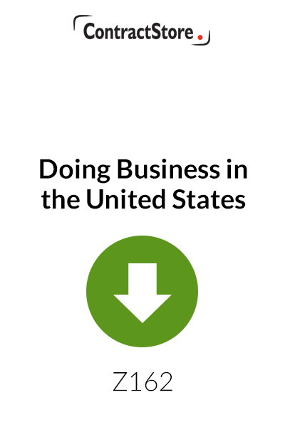 Doing Business in the United States – A survey of legal considerations