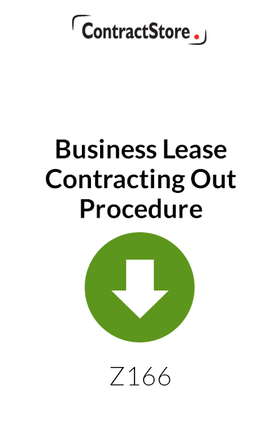 Business Lease Contracting Out Procedure