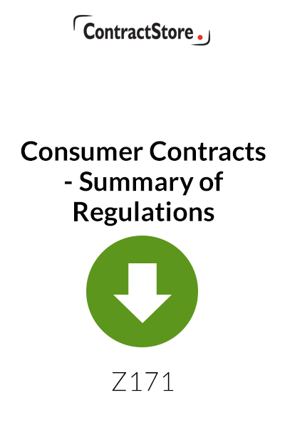 Consumer Contracts – Summary of Regulations