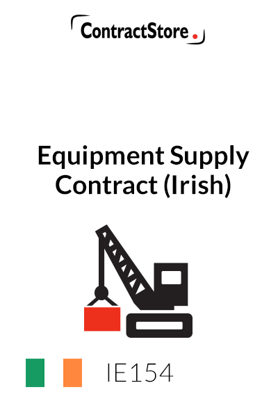 Equipment Supply Contract (Irish)